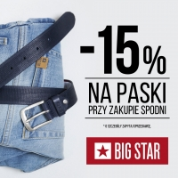 -15% na paski do spodni w BIG STAR!